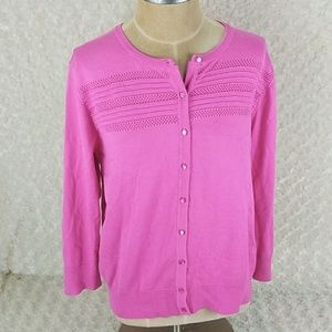 Cable & gauge women's cardigan pink